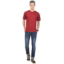Red Cotton Mens Casual T-shirts