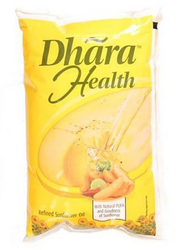 Dhara Sunflower Oil, Packaging Size: 1 litre, Packaging Type: Pouched