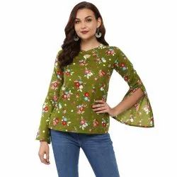 Yash Gallery Women's Cotton Floral Print Top