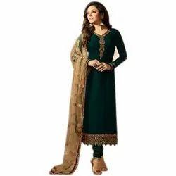 Casual Wear Fancy Georgette Unstitched Suits, Size: 44-45