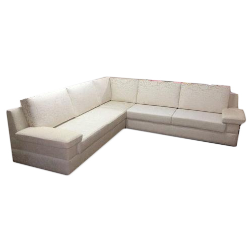 Leather White Long L Shape Sofa Set Height 30 Inches Rs