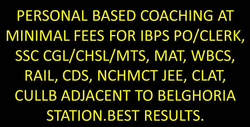Coaching For Ibps Po Clerk, Ssc Cgl, Cds, Clat, Mat, Nchmct Exam Kolkata