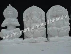 Marble Ganesha Parvati Kartik Moorti