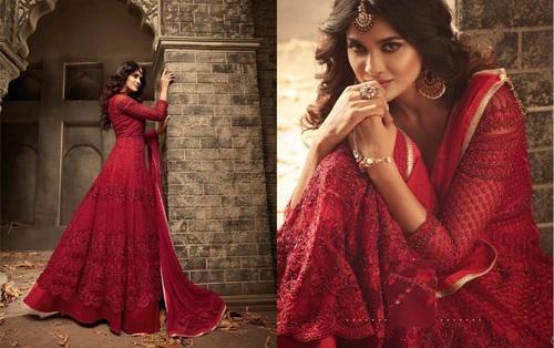 ebee8376104 Full Heavy Embroidery Work Muslim Net Anarkali Suit