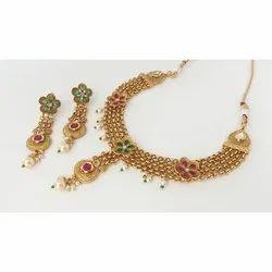 Coppar Goldan Golden Necklace, Plastic Pack