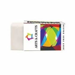 Arts & Crafts White Dust Free Eraser, Packaging Type: Box