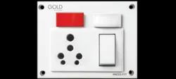 Press Fit - Gold 5-IN-1 6/16 Amp. Indian Switch Socket Combined