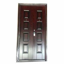 Brown Syed Doors Double Opening Steel Door