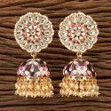 Indo Western Jhumkis With Gold Plating 100295