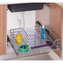 Wooden Under Sink Basket
