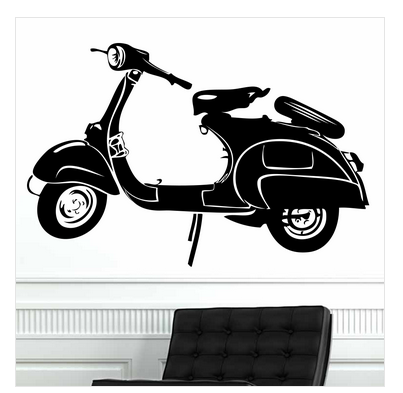 Hamara scooter wall sticker