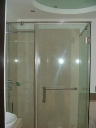 Transparent Toughened Glass, For Home, Shape: Curve