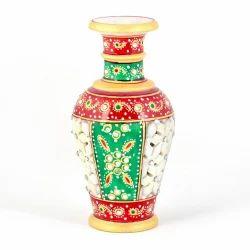 Golden Minakari Colorful Flower Vase 403