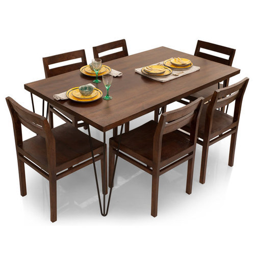 Brown Nilkamal 6 Seater Dining Table Set Rs 26000 Set Majestic Dream Furniture Id 17035396088