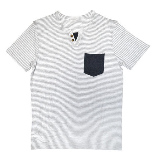 3fedffc92 All Sizes Grey / White Stripes Mens Short Sleeve V Neck Tee, Rs 180 ...