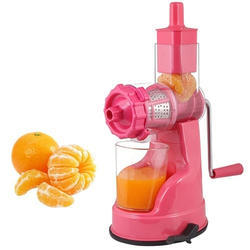 Plastic Pink Manual Juicer
