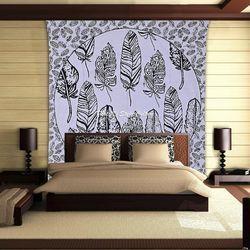 Tree Leaves Hippie Bohemian Mandala Tapestry Wall Hanging