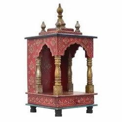 Brown Wooden Red Painted Temple