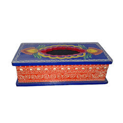 Wooden Tissue Box With Hand Paint