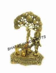 Gold Plated Cow Krishna Tree