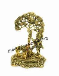Gold Plated Cow Krishna Tree