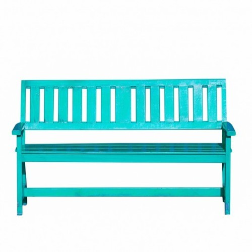 Turquoise Wooden Low Garden Bench Size 52 X 20 X 34 Inch Id