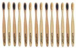 WOODYKRAFT S Curve Handle Bamboo Toothbrush