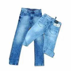 Casual Wear Regular Fit Mens Faded Denim Jeans, Waist Size: 32-42 Inch