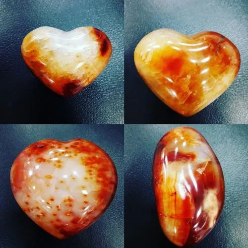 Orange Carnelian Heart, Size: 4 inches
