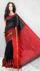 Temple Border Party Wear Ethnic Cotton Silk Saree, 5.5 M (separate Blouse Piece)