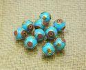 Amazing Handmade Turquoise Coral Gemstone Tibetan Beads