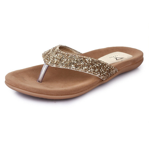269299f458303e Faux Leather For Complete Durablity Trase Mandarin Women Flat Fancy Slippers  For Partywear