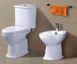 G.E.C. Closed Front Ceramic Anglo Indian (White)-F G, For Bathroom Fitting