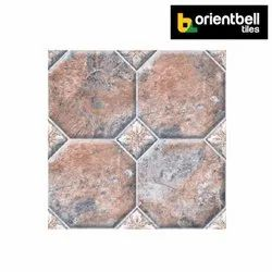 Orientbell Tiles Orientbell Pav Octo Flora Car Parking Tiles, Size: 300X300 mm