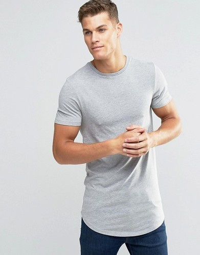 best choice buy online superior materials Men''s Muscle Fit Curved Hem T Shirt