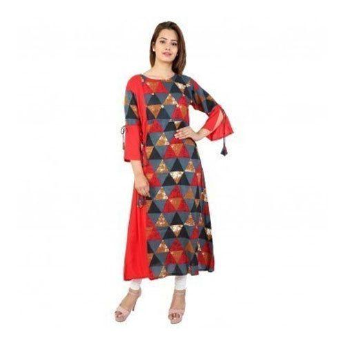 4e69f2f3f9 L And XL Semi-stitched Ladies Cotton Long Kurti, Rs 300 /piece   ID ...