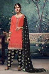Ethnic R Patiala Satin Glaze Ladies Suit