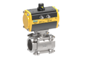 3 3PC Ball Valve with ISO Pad & Actuator (SS-304)