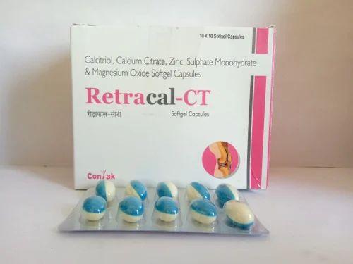Calcitriol, Calcium Citrate, Zinc Sulphate Monohydrate & Magnesium Oxide Softgel Capsules