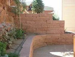 Red Sandstone Walling Stone For Wall Construction