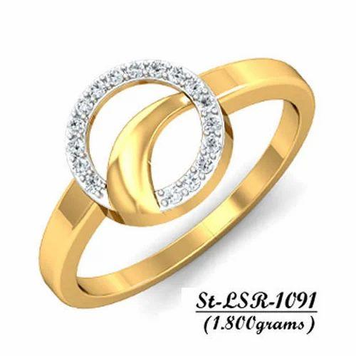 ffc659f102a096 AD Ladies Fancy Gold Ring, Rs 5644.8 /piece, Amber Dzine | ID ...