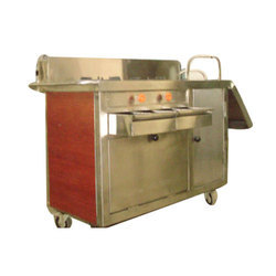 Stainless Steel Flambe Trolley