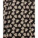Cottinfab Women's Maxi White, Black Dress