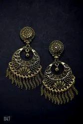 Fancy Brass Earrings