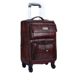 Hammonds Flycatcher Genuine Leather Travel Suitcase
