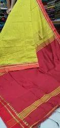 Small Temple Velvet Border Handloom Saree