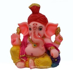 Multi-Color Rasin Turban Ganesha Statue