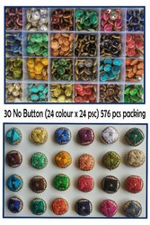 Tripti Products Embroider Buttons, Packaging Type: Box