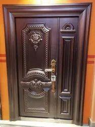 Brown Copper Finish Steel Door