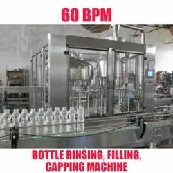 Mineral Water Bottle Rinsing, Filling, Capping Machine